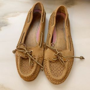 Light brown Sperry's, ladies size 8 💛
